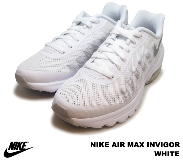 Nike women's Air Max in vigor white NIKE AIR MAX INVIGOR 749866-100 WHITE ladies