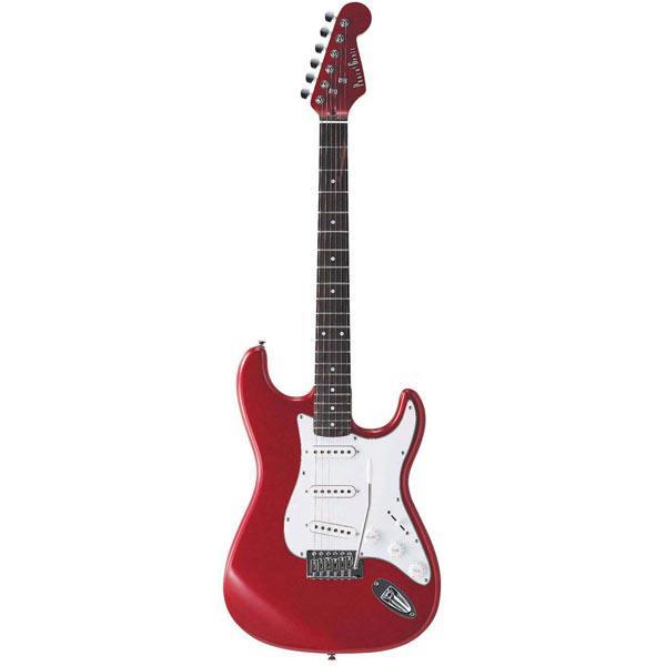 【送料無料】PhotoGenic エレキギター メタリックレッド ST-180