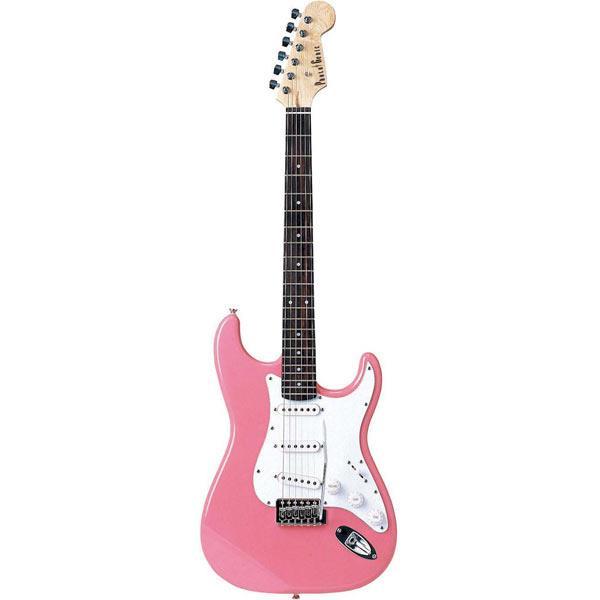 【送料無料】PhotoGenic エレキギター ピンク ST-180