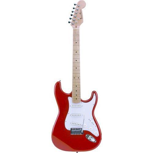 【送料無料】PhotoGenic エレキギター メタリックレッド ST-180M