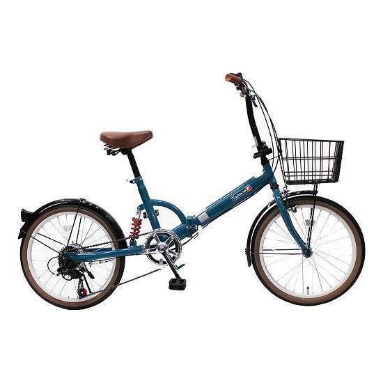 【送料無料】TOP ONE FS206LL-37-TB ターコイズブルー [折りたたみ自転車(20インチ・6段変速)]【同梱配送不可】【代引き不可】【沖縄・北海道・離島配送不可】