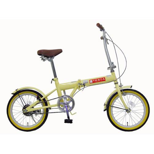 【送料無料】TOP ONE FL160-46-IV アイボリー TESTA(テスタ) [折りたたみ自転車(16インチ)] 【同梱配送不可】【代引き・後払い決済不可】【沖縄・北海道・離島配送不可】
