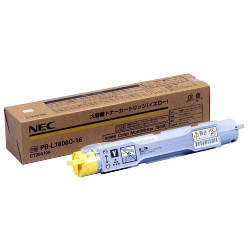 NEC PR-L7600C-16 イエロー [大容量トナーカートリッジ] 【同梱配送不可】【代引き・後払い決済不可】【沖縄・北海道・離島配送不可】