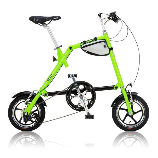 【送料無料】nanoo FD-1207 グリーン [折りたたみ自転車(12インチ・7段変速)]【同梱配送不可】【代引き不可】【沖縄・北海道・離島配送不可】