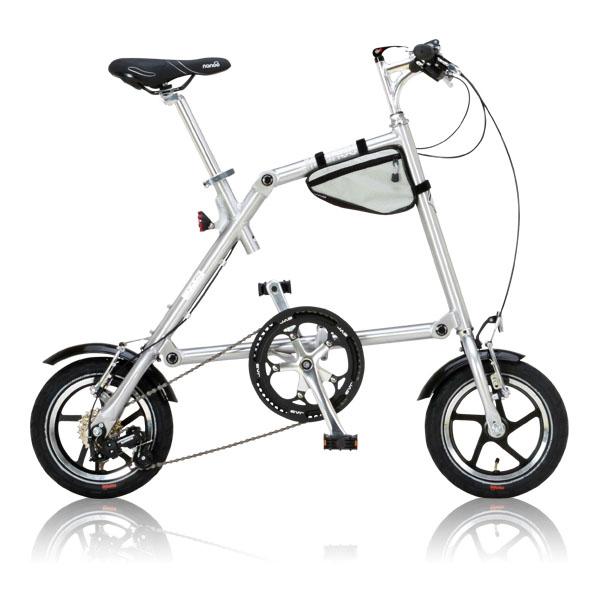 【送料無料】nanoo FD-1207 ポリッシュ [折りたたみ自転車(12インチ・7段変速)]【同梱配送不可】【代引き不可】【沖縄・北海道・離島配送不可】