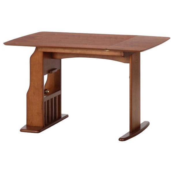 【送料無料】不二貿易 10603 食卓4点セット ウィング テーブル12075MBR ミディアムブラウン【同梱配送不可】【代引き不可】【沖縄・北海道・離島配送不可】