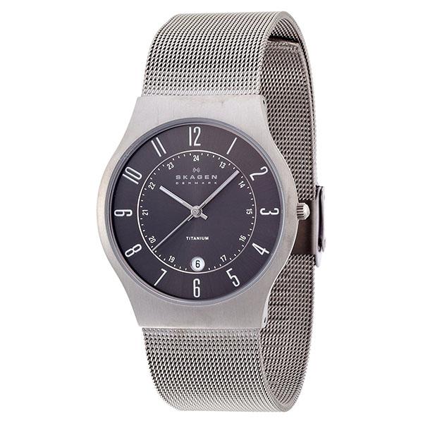 【送料無料】SKAGEN 233XLTTM Titanium Date(チタニウム デイト) [腕時計] 【並行輸入品】