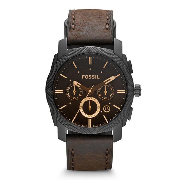 【送料無料】FOSSIL FS4656 ブラウン/ブラック MACHINE(マシーン) [腕時計] 【並行輸入品】