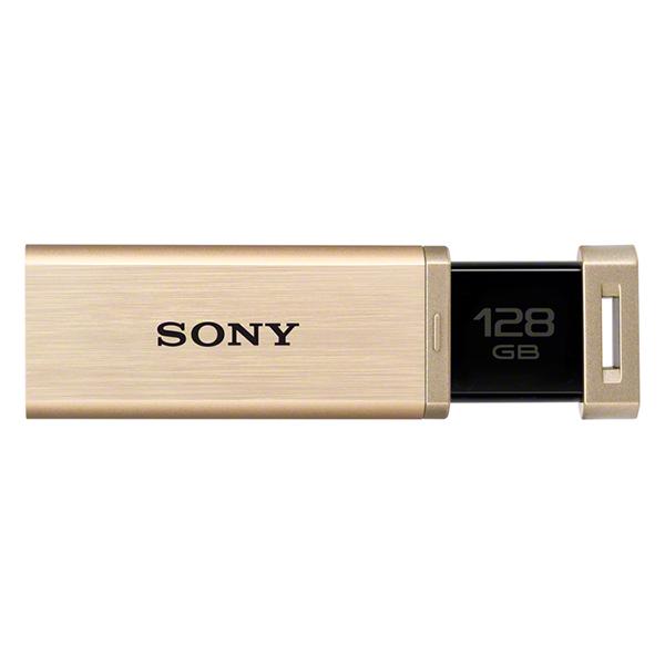 【送料無料】SONY USM128GQX N ゴールド ポケットビットUSM-QX [ノックスライド方式USBメモリー 128GB(USB3.0対応)] 【同梱配送不可】【代引き・後払い決済不可】【沖縄・離島配送不可】