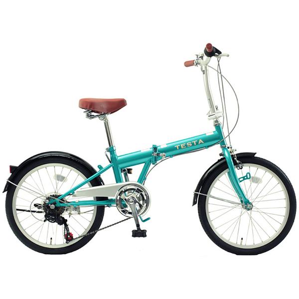 【送料無料】TOP ONE FKG206-48-LB ライトブルー [折りたたみ自転車(20インチ・外装6段)]【同梱配送不可】【代引き不可】【沖縄・北海道・離島配送不可】
