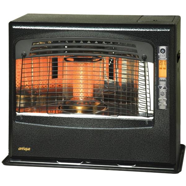アンティークモデル。趣のあるアンティークスタイルの遠赤・赤外線ファンヒーター。 TOYOTOMI LR-680F ブラック [石油ファンヒーター (木造18畳/コンクリ24畳まで)]