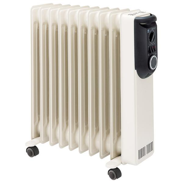 【送料無料】DBK HEZ13/10KBH アーモンド オイルヒーター 木造6畳 コンクリ9畳 ハンガー付きモデル 暖房 空気を汚さない