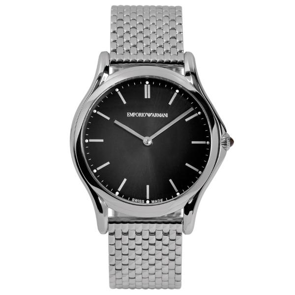 【送料無料】EMPORIO ARMANI ARS2005 ブラック×シルバー [クォーツ腕時計(ユニセックス)] 【並行輸入品】