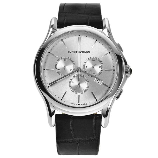 【送料無料】EMPORIO ARMANI ARS4002 シルバー×ブラック [クォーツ腕時計(メンズ)] 【並行輸入品】