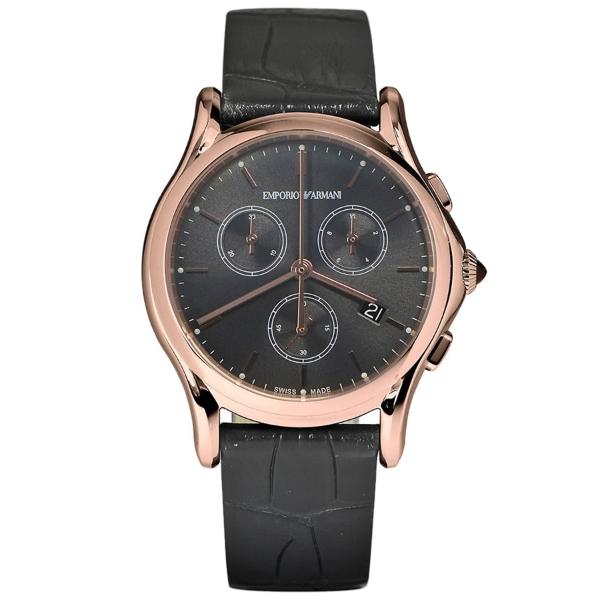 【送料無料】EMPORIO ARMANI ARS6004 ブラック×ダークグレー [クォーツ腕時計(ユニセックス)] 【並行輸入品】