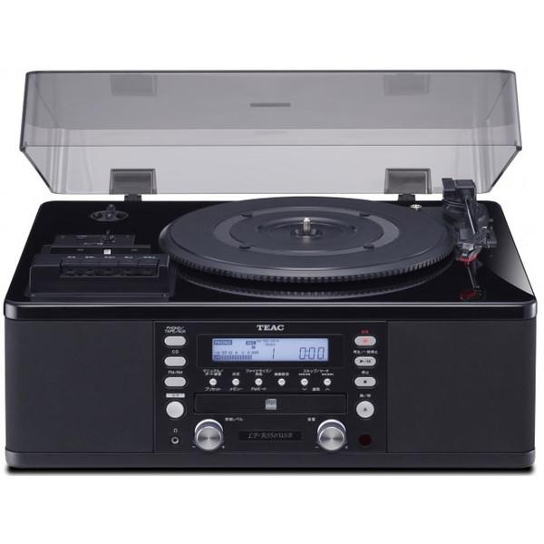 【送料無料】TEAC LP-R550USB-P/PB ピアノブラック [ターンテーブル/カセットプレーヤー付 CDレコーダー]