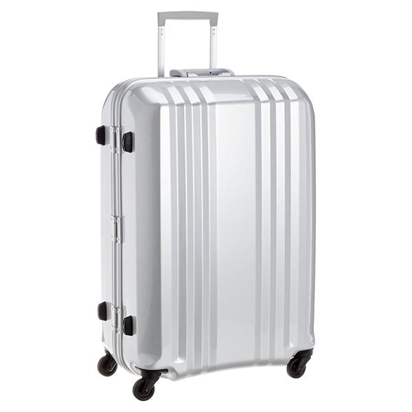 【送料無料】アジア・ラゲージ MM-5588 カーボンホワイト A.L.I(エー・エル・アイ) デカかる2 [スーツケース(78L/4~7泊)]