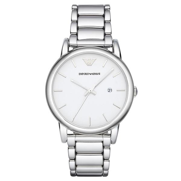 【送料無料】EMPORIO ARMANI AR1854 ホワイト/シルバー クラシック [クォーツ腕時計(メンズ)] 【並行輸入品】