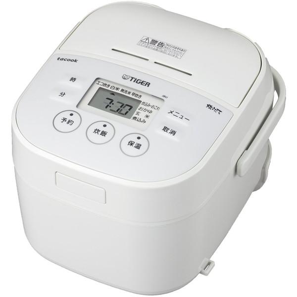 TIGER JBU-A551-W ホワイト 炊きたて [マイコン炊飯器 (3合炊き)]