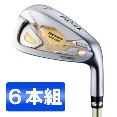 【送料無料】本間ゴルフ(HONMA) BERES(べレス) IS05 アイアンセット6本組(#6~#11) AQ48 2S カーボンシャフト フレックス:R 【日本正規品】