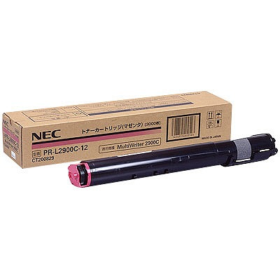 【送料無料】NEC PR-L2900C-12 マゼンタ [トナーカートリッジ3K] 【同梱配送不可】【代引き・後払い決済不可】【沖縄・離島配送不可】