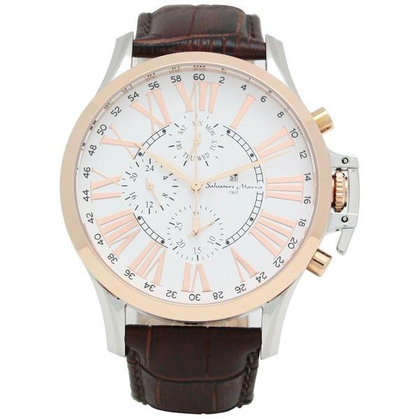 Salvatore Marra SM14123-PGWH [クロノ クオーツ メンズ腕時計]