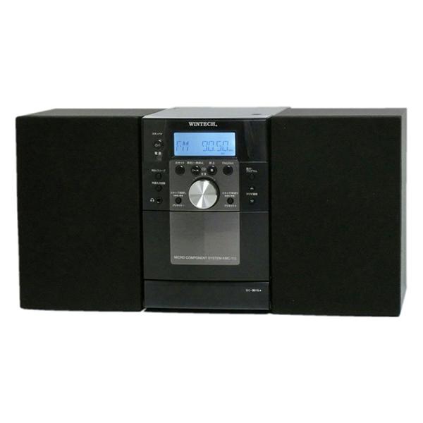 【送料無料】WINTECH/廣華物産 KMC-113 ブラック [CDカセットミニコンポ]