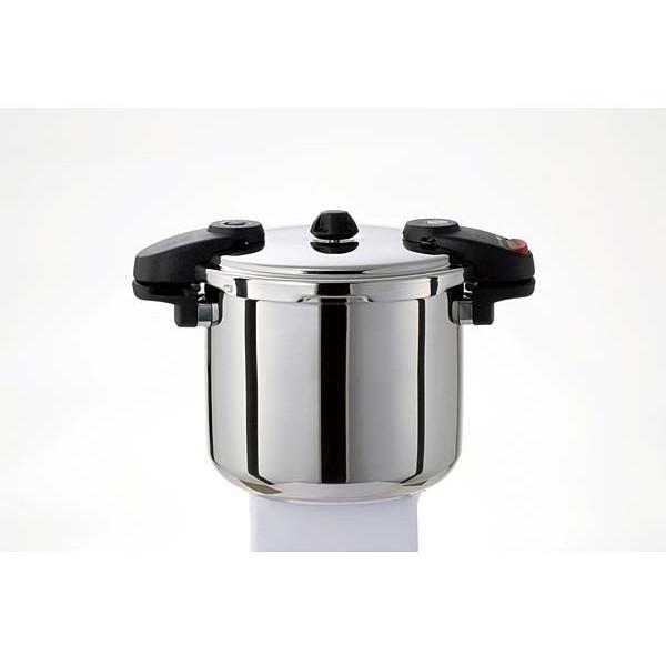圧力鍋 業務用 8L ワンダーシェフ プロミドル IH対応 ガス プロ仕様 610225 NMDA80 両手圧力鍋 8リットル 安心 安全 時短 大容量