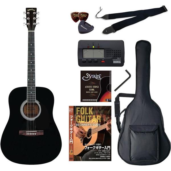 【送料無料】SepiaCrue WG-10/BK(バリューセット) ブラック [アコースティックギター初心者入門バリューセット ウェスタンタイプ]