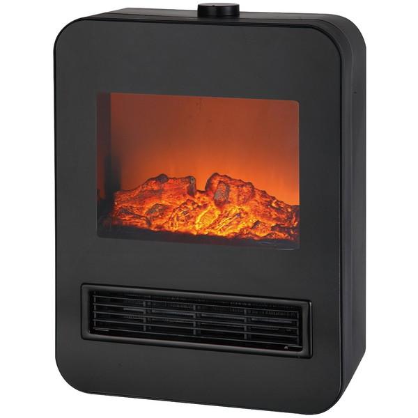【送料無料】TEKNOS TD-S1201(BK) ブラック [暖炉型セラミックファンヒーター(1200W)]