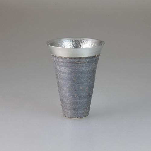 【送料無料】西日本陶器 月光(銀)錫陶フリーカップ 【同梱配送不可】【代引き・後払い決済不可】【離島配送不可】
