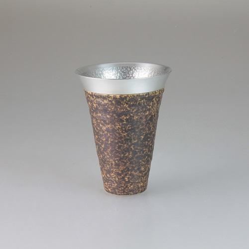 【送料無料】西日本陶器 月光(銅)錫陶フリーカップ【同梱配送不可】【代引き不可】