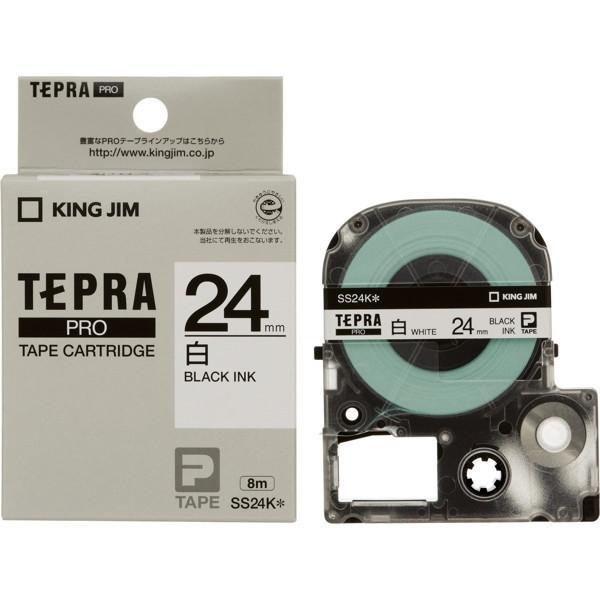 訳あり品送料無料 テプラPRO専用カートリッジです PROテープカートリッジ 日本未発売 白ラベル 24mm幅