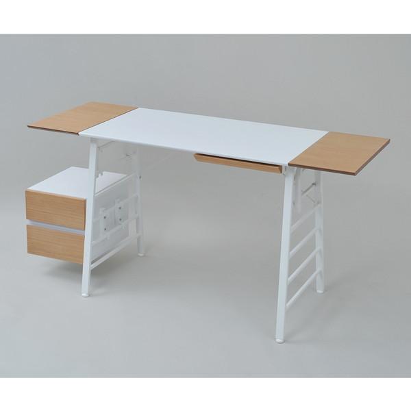 【送料無料】JKプラン NU-SET-WHNA Re・conte Ladder Desk NU set ホワイトナチュラル [ラダーデスク 引き出し付き]【同梱配送不可】【代引き不可】【沖縄・離島配送不可】
