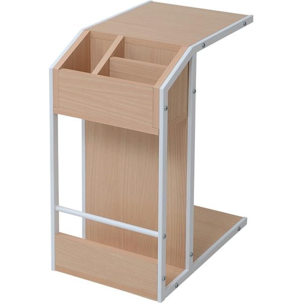 【送料無料】JKプラン DRT-0008-WH Re・conte Rita series Sofa Side Table リタ [ソファサイドテーブル (収納ワゴン/キャスター付き)]【同梱配送不可】【代引き不可】【沖縄・離島配送不可】