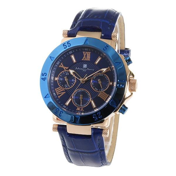 【送料無料】Salvatore Marra SM14118S-PGBL ブルー [腕時計]