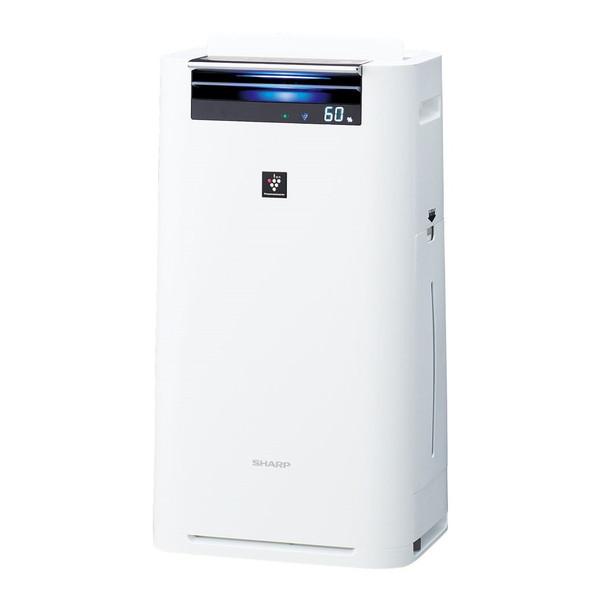 【送料無料】SHARP(シャープ) KI-GS50-W ホワイト系 [加湿空気清浄機 (空気清浄~23畳/加湿~15畳まで)]加湿/除電/節電/高濃度プラズマクラスター25000/花粉/脱臭/ウイルス/ホコリ/パワフル吸塵/PM2.5対応/スリム/キッズ/赤ちゃん