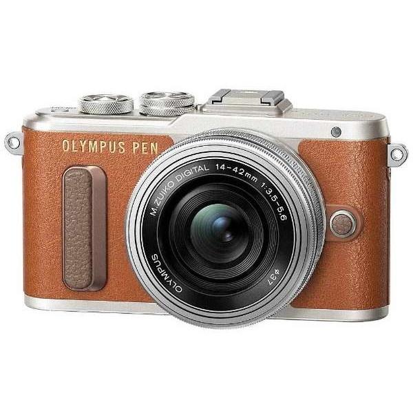 【送料無料】OLYMPUS PEN E-PL8・14-42mm EZレンズキット ブラウン [デジタル一眼カメラ(1605万画素)]