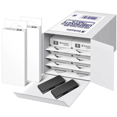 【送料無料】三菱化学メディア 1318-USBF8GVZ1C USBメモリー 8GB スライド式 10個入 黒