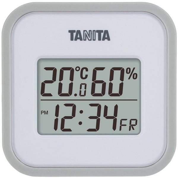 温度と湿度をはかって快適な生活空間を TANITA TT-558-GY 5☆大好評 グレー 高品質 デジタル温湿度計 タニタ 室内 部屋 温度調節 熱中症対策 温度計 湿度計