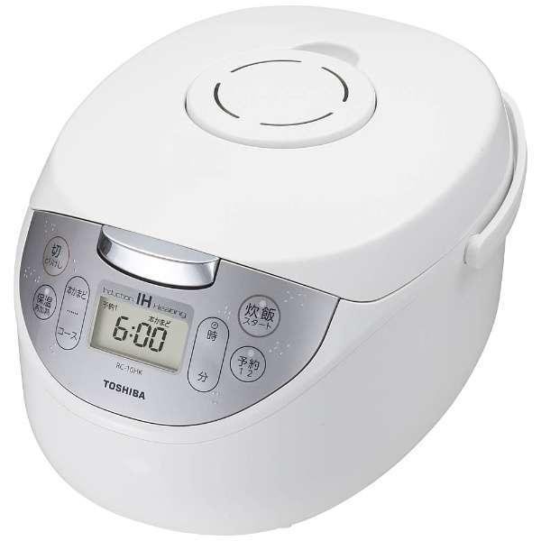 【送料無料】東芝 RC-10HK-W ホワイト かまど銅コート釜 [IH炊飯器 (5.5合炊き)]