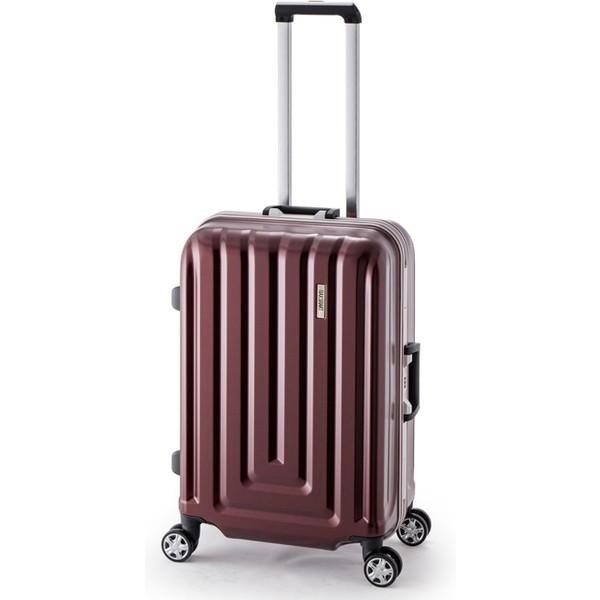 【送料無料】アジア・ラゲージ MS-033-25 カーボンレッド MAX SMART [スーツケース (52L/2~3泊/TSAロック搭載)]