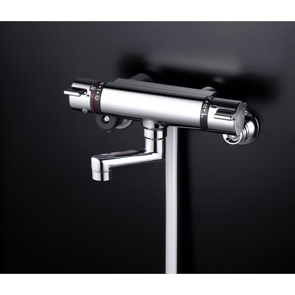 【送料無料】KVK KF800WTN 寒 サーモシャワー80mmP付
