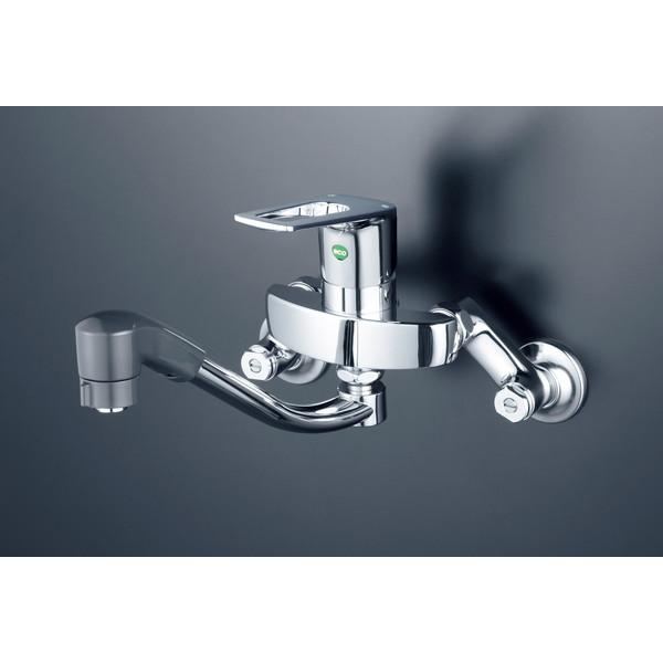【送料無料】KVK KM5000ZTFEC シングルシャワー混合栓 eレバー