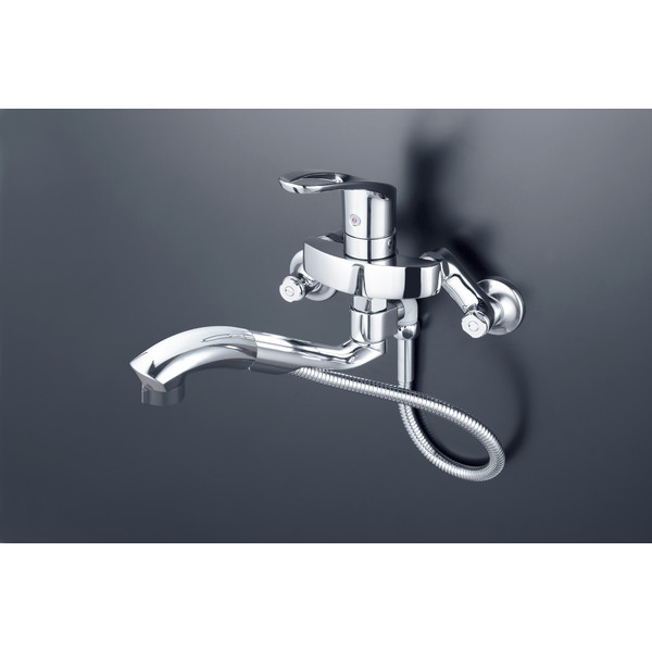 【送料無料】KVK KM5000ZTTP 寒 シングルシャワー付混合栓
