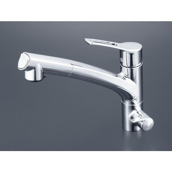 【送料無料】KVK KM5061NCK 浄水器シングルシャワー付混合栓