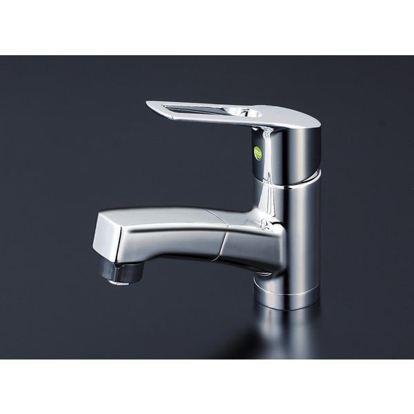 【送料無料】KVK KM8001TFEC 洗面シャワー付混合栓 eレバー