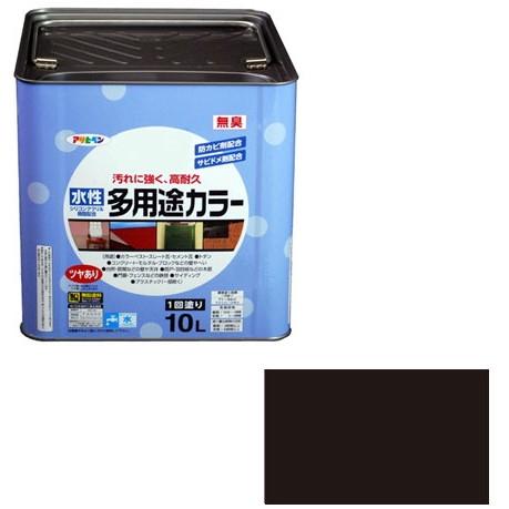 アサヒペン 水性多用途カラー 10L (黒)