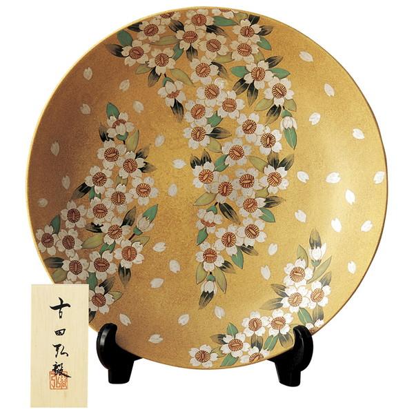 【送料無料】6-7 九谷焼 桜舞 10号飾皿