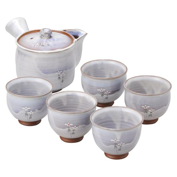 【送料無料】05402607 芭華-11 萩焼 松尾邑華作 梅鉢草茶器揃